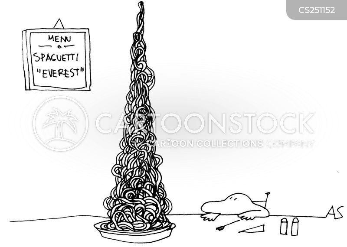 spaghetti dish cartoon