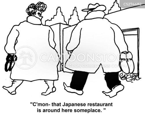 japanese restaurants cartoon