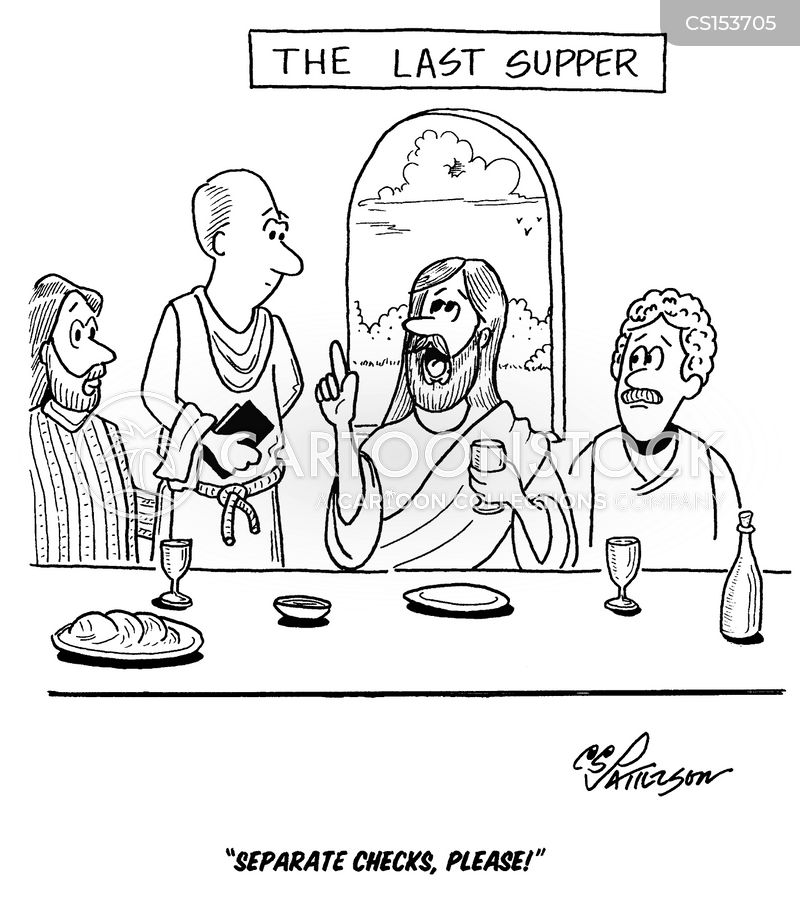 The Last Supper Cartoon 8