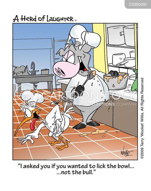 lick the bowl cartoon