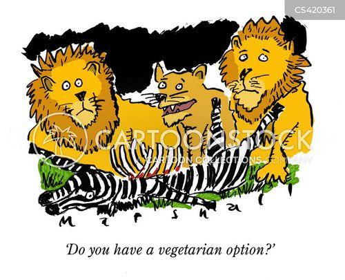 vegetarian options cartoon
