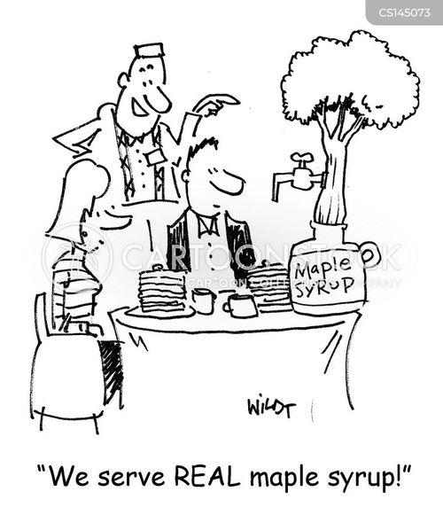 maple syrup cartoon