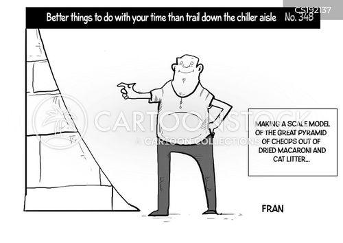 model building cartoon