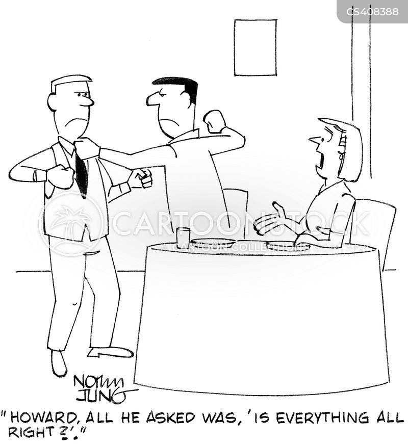 good service cartoon