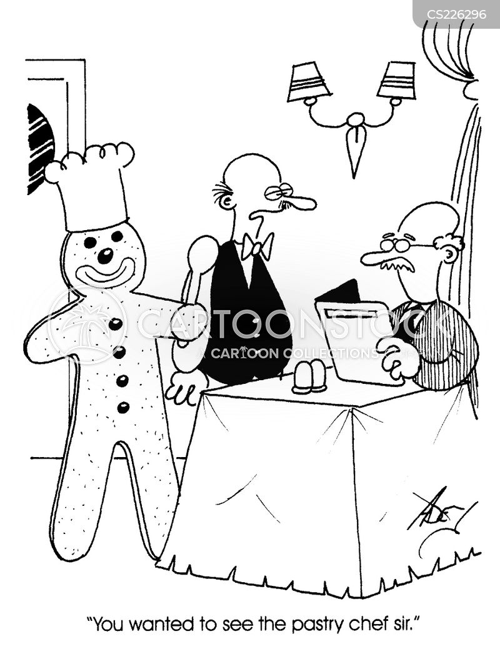 pastry chef cartoon