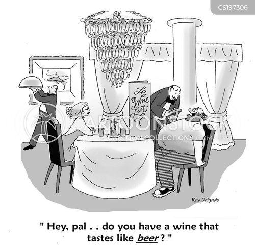 wine list cartoon