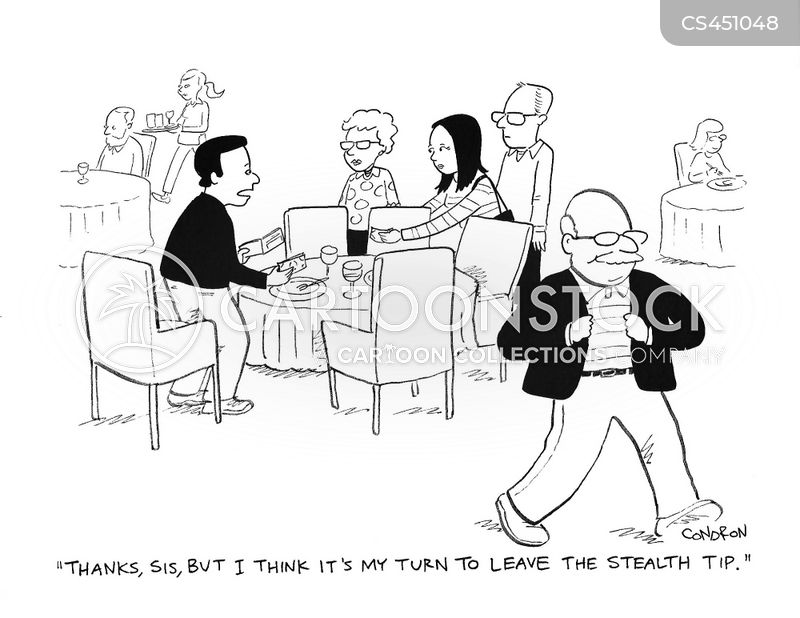 tipping etiquette cartoon