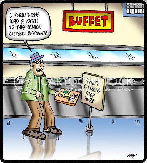 buffet bars cartoon