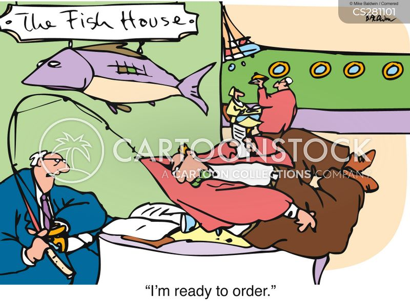 fish house cartoon