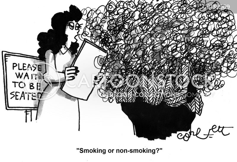 non smokers cartoon