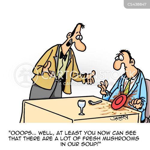 restaurant worker cartoon