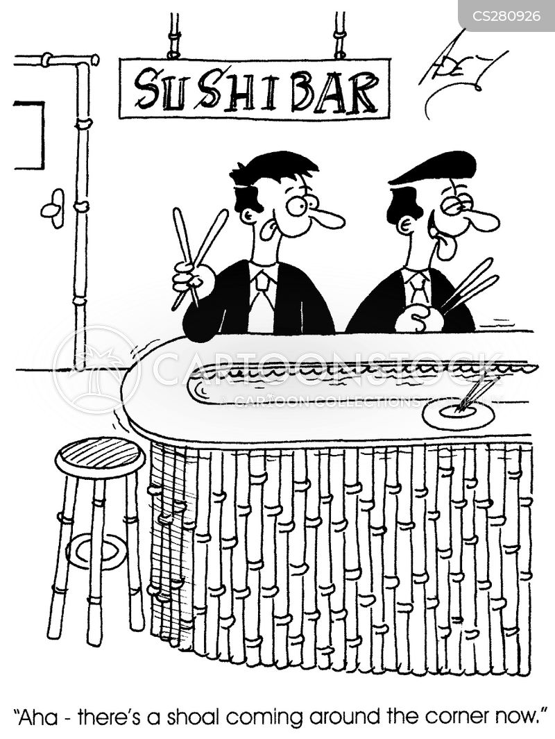 sushi restaurants cartoon