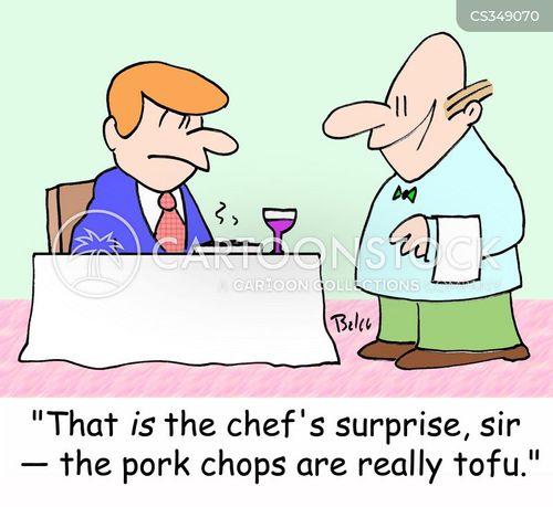 pork chops cartoon