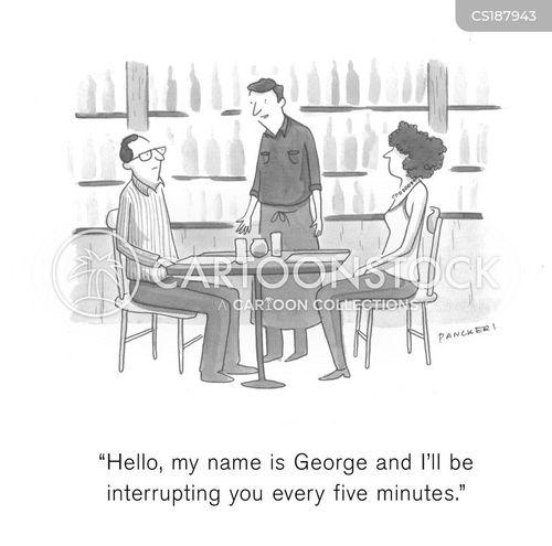 restaurant workers cartoon