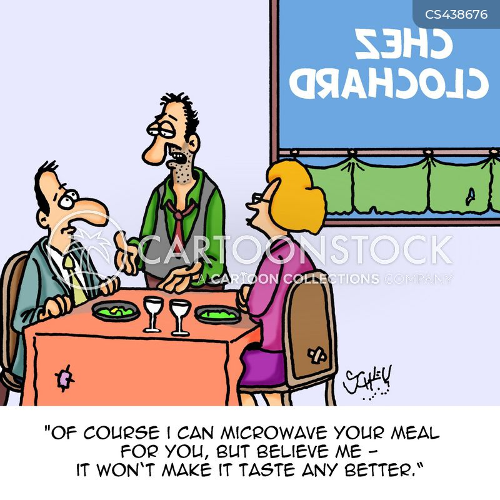 restaurant critic cartoon