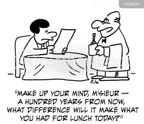 make your mind up cartoon