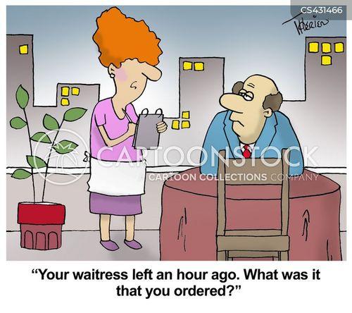 restaurant service cartoon