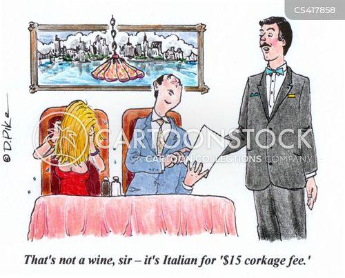 corkage fee cartoon