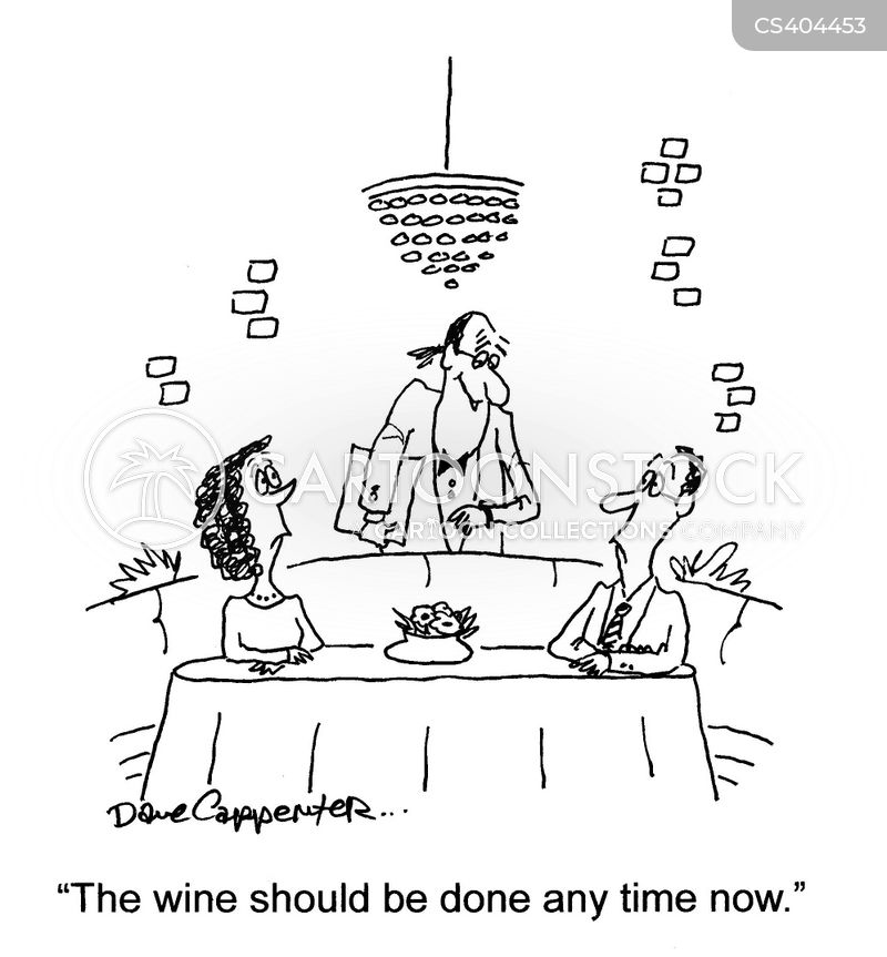 wine menu cartoon