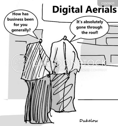 tv aerials cartoon