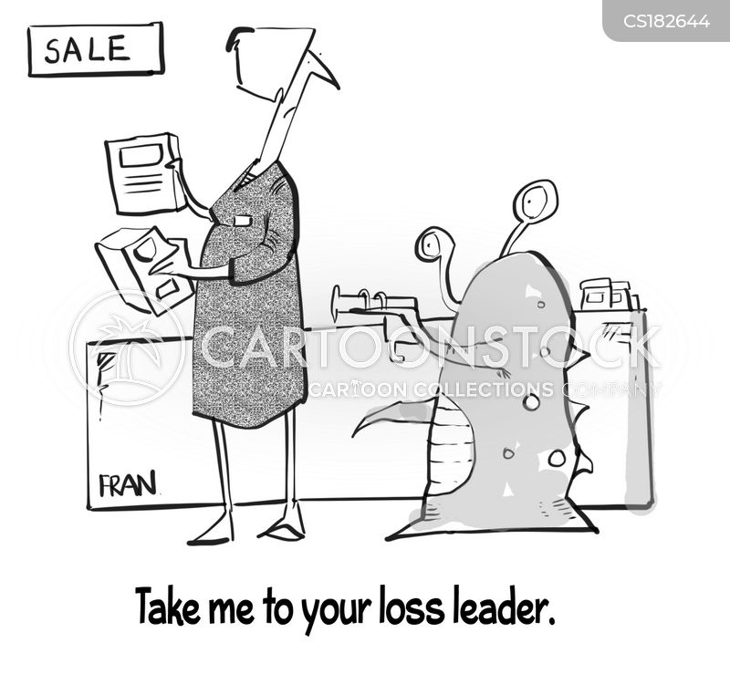loss leader cartoon
