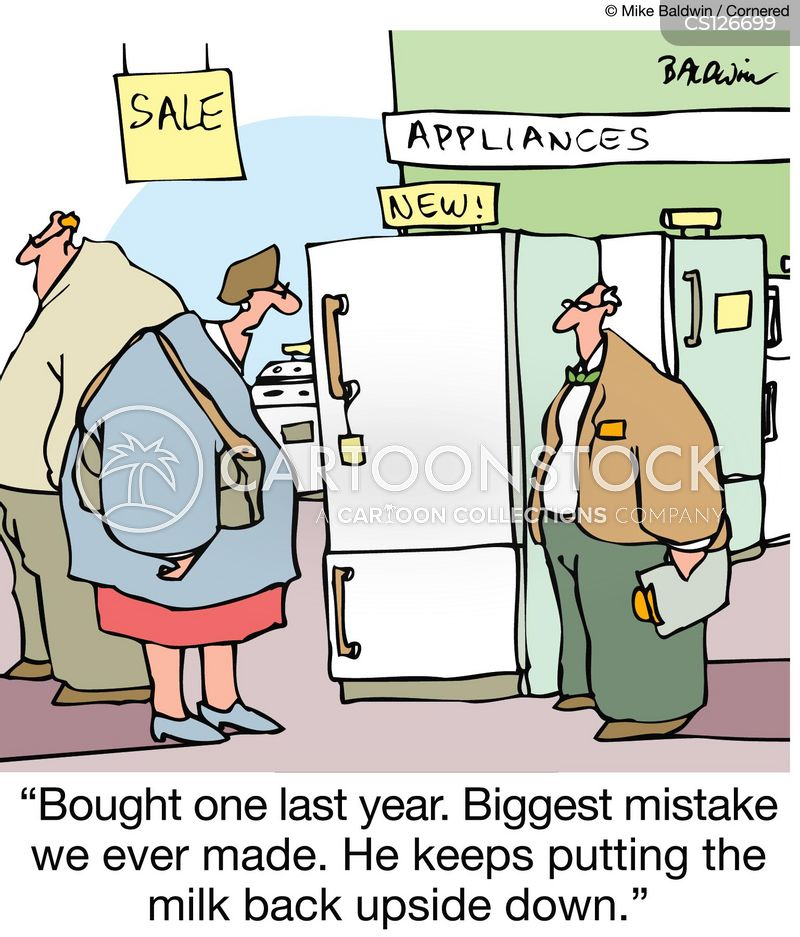 household appliances cartoon