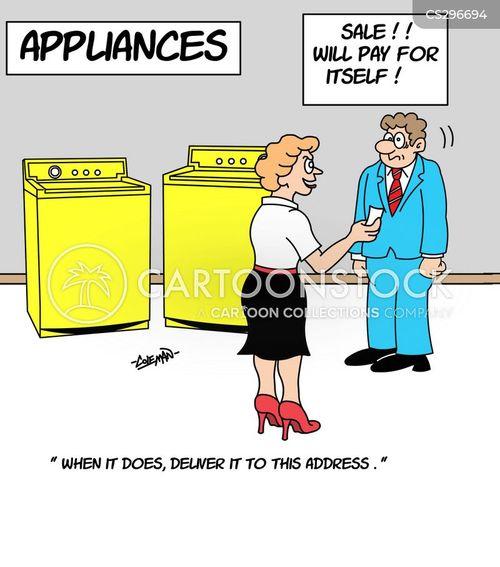 dryer sales cartoon