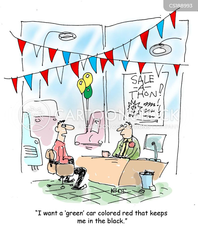 car dealership cartoon