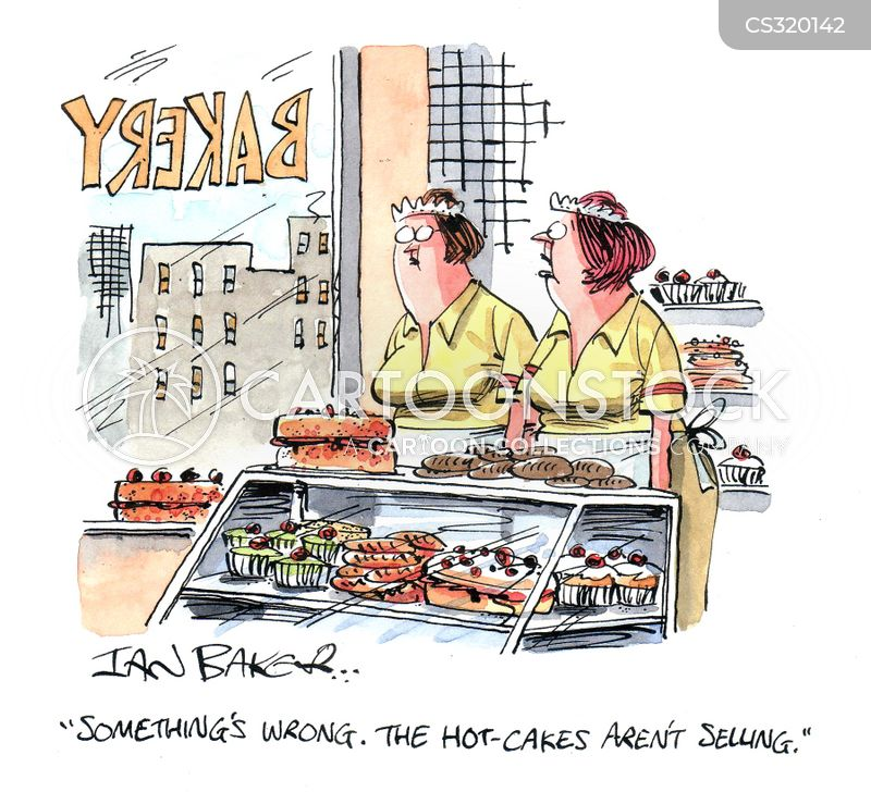 cake sellers cartoon