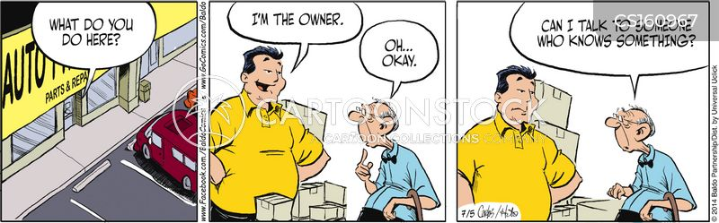 store owners cartoon