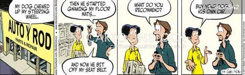 auto parts shop cartoon
