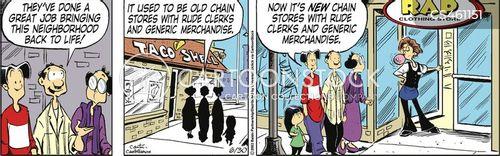 chain stores cartoon