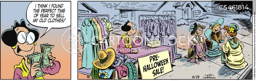 clothing sales cartoon