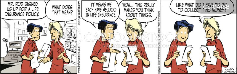 life insurance policy cartoon