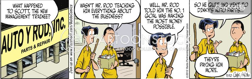 makes money cartoon