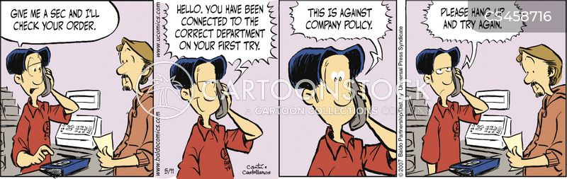 automated calls cartoon