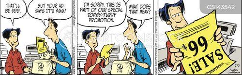 topsy turvy cartoon