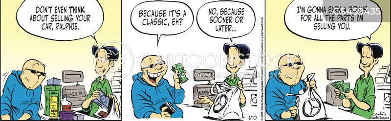 auto shop cartoon