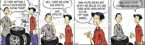 car tire cartoon