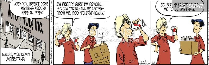 Telepathy Cartoons and Comics - funny pictures from CartoonStock