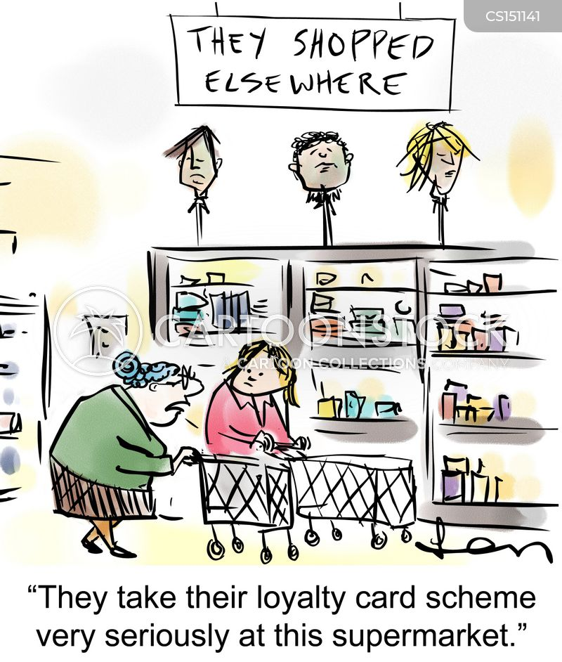 loyalty card cartoon