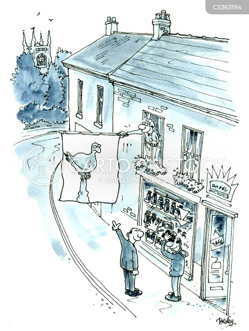 shopkeeper cartoon