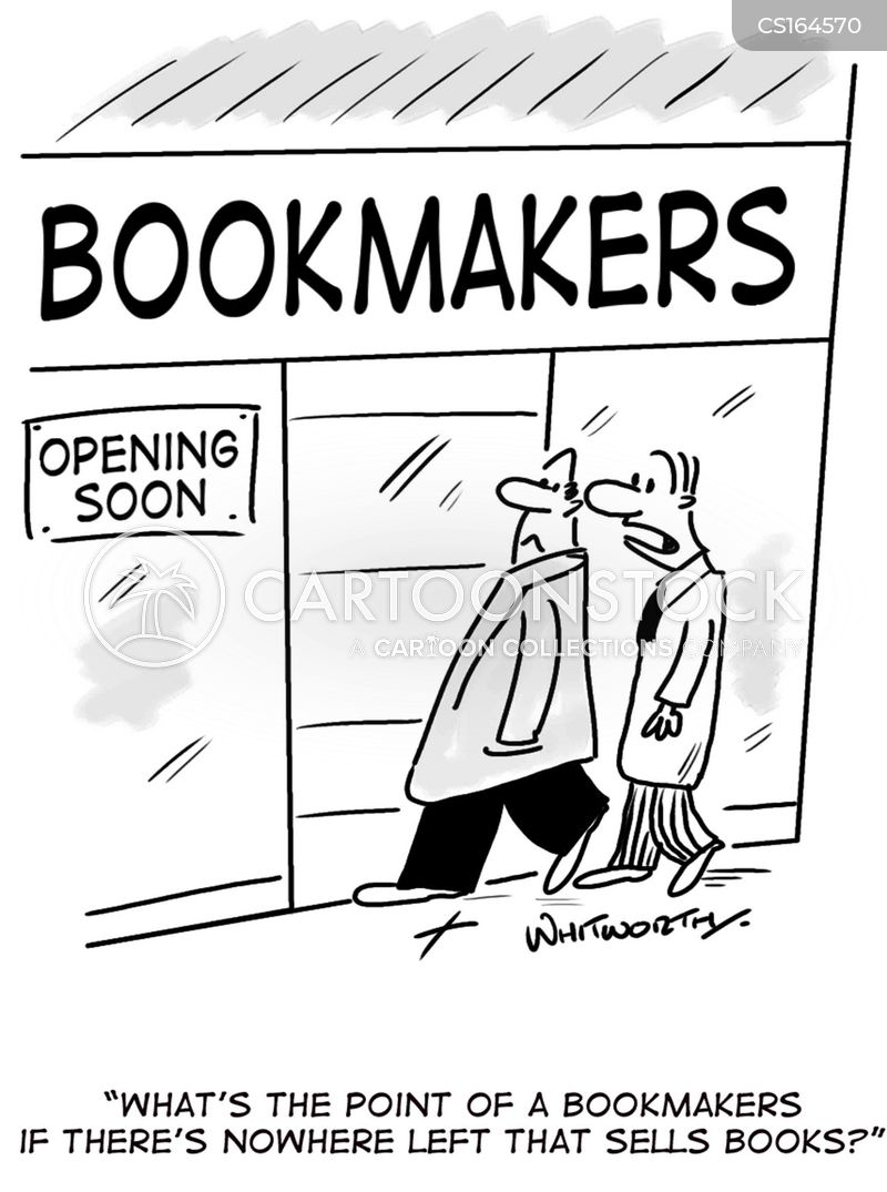 book shops cartoon