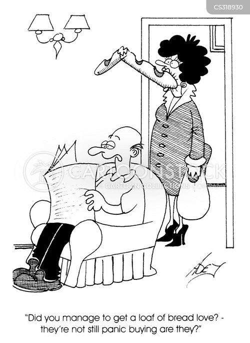 panic buyer cartoon