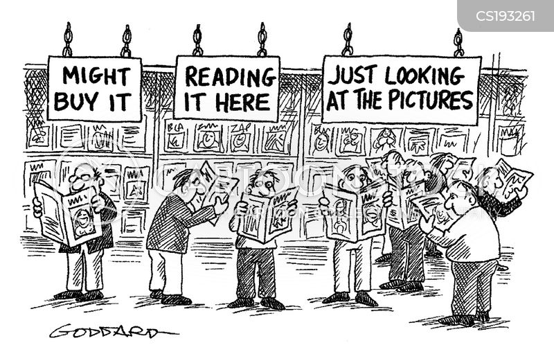browsing cartoon