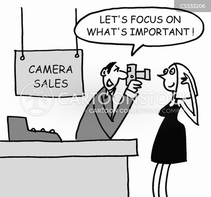 camera sales cartoon