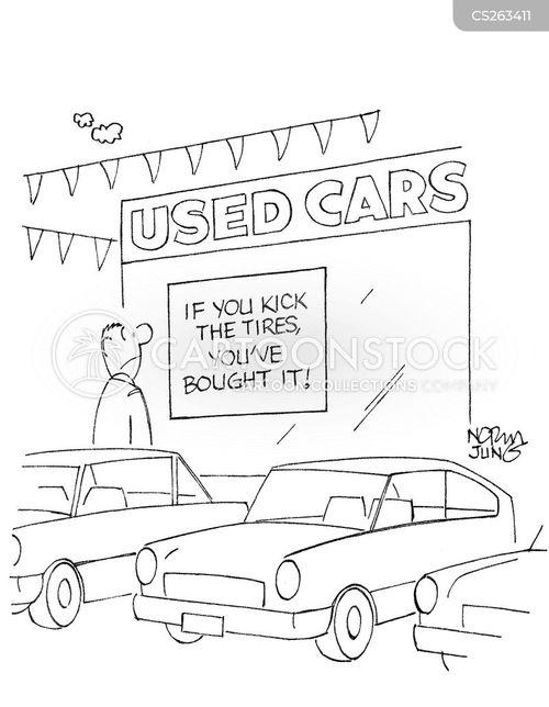 test drivers cartoon