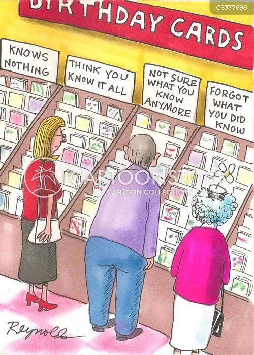 card shoppers cartoon
