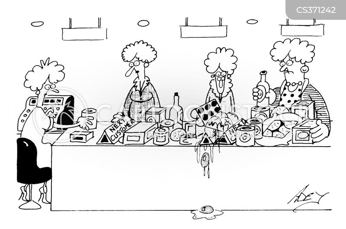 conveyor belts cartoon