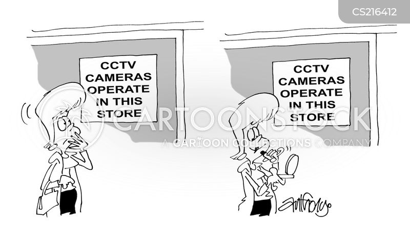 close circuit television cartoon
